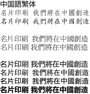 中国語、繁体文字
